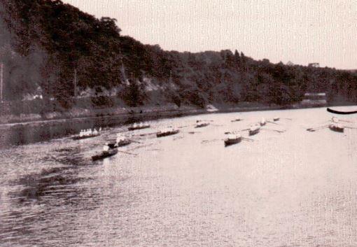 Auffahrt Drachenboot_2018-der Boote im Rahmen der Internen Regatta 1911